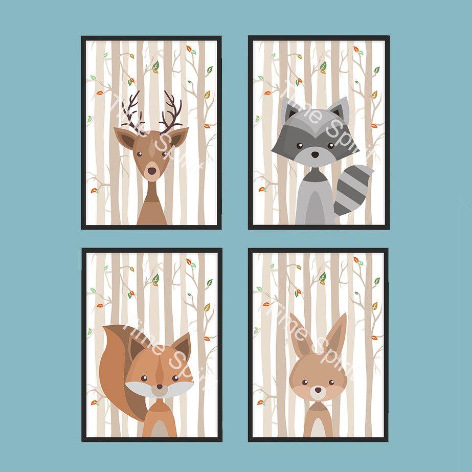 Bilder Poster Kinderzimmer Tiere Set Kinderbild Ein