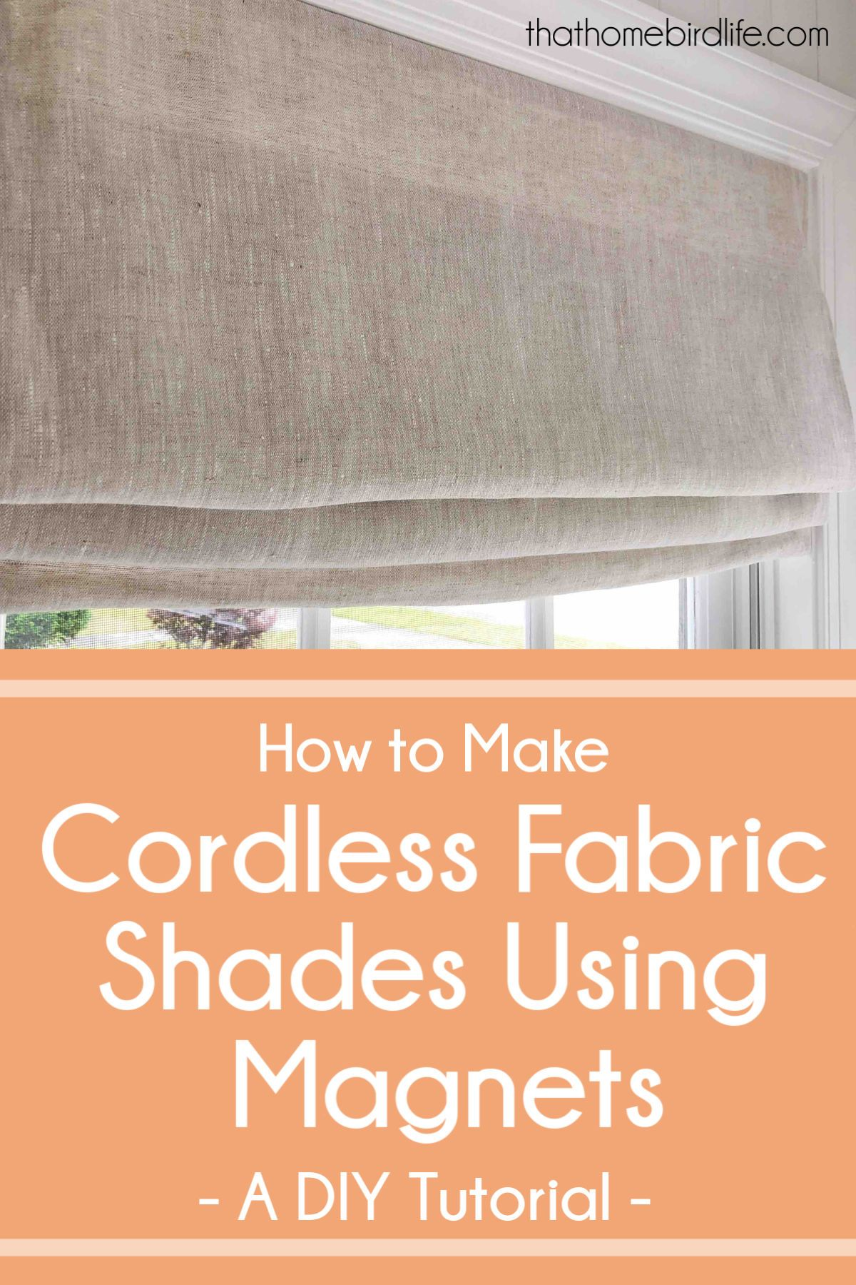 Diy Cordless Fabric Shades One Room Challenge Week Five