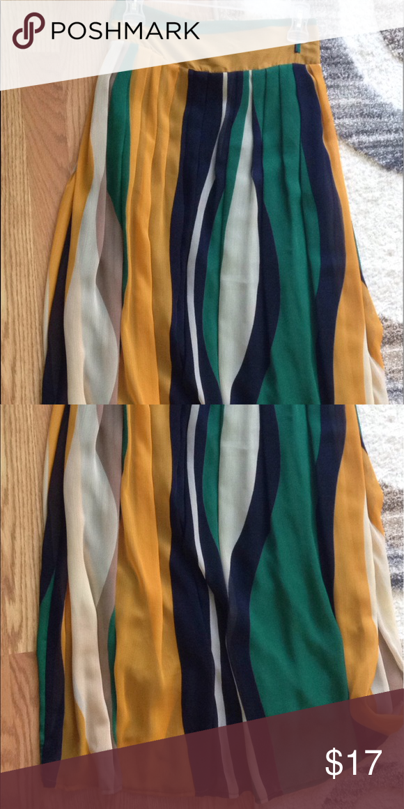 COLORFUL MAXI SKIRT Colorful maxi dress worn only once but literally brand new. Make me an offer. Size is euro 40 or medium Skirts Maxi