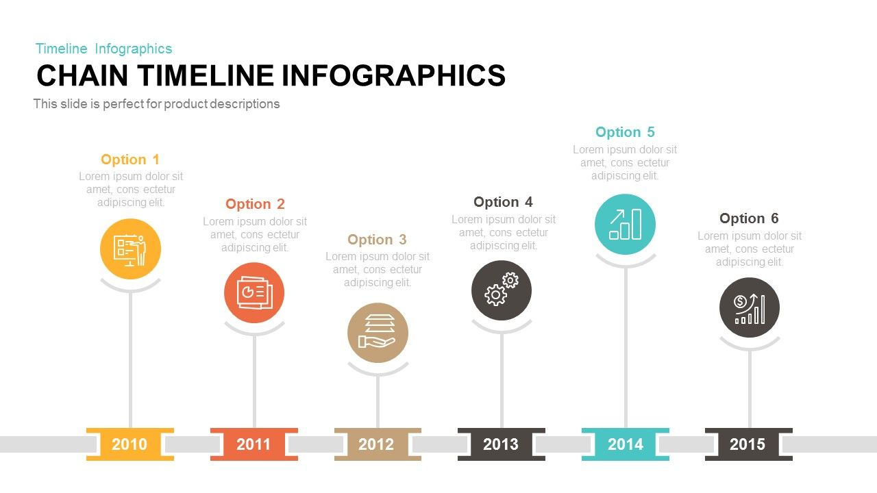 Chain timeline infographics powerpoint and keynote template chain timeline infographics powerpoint and keynote template nvjuhfo Image collections