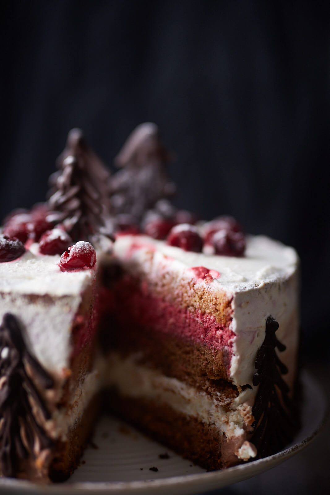 Photo of The slightly different variant of the popular Black Forest cherry cake. Suitable …