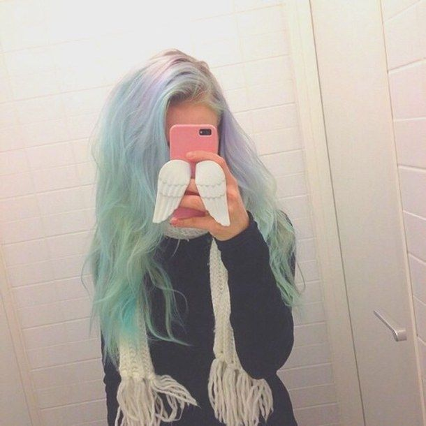 colored hair, tumblr, icon, hair - image #4170523 by loren@ on ...