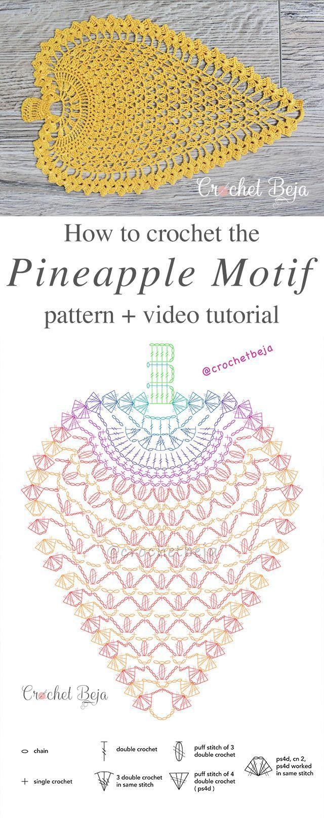 Crochet Pineapple Pattern Anywane Can Learn Pineapple Motif Lace Free Crochet Pattern The Post Crochet Pineapple P Hakeln Muster Ananas Muster Hakelanleitung