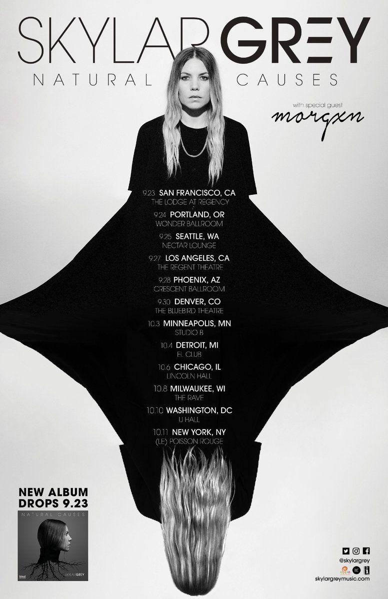 Skylar Grey Announces Natural Causes Tour Dates Skylargrey Naturalcausestour Naturalcauses Skylar Grey Tour