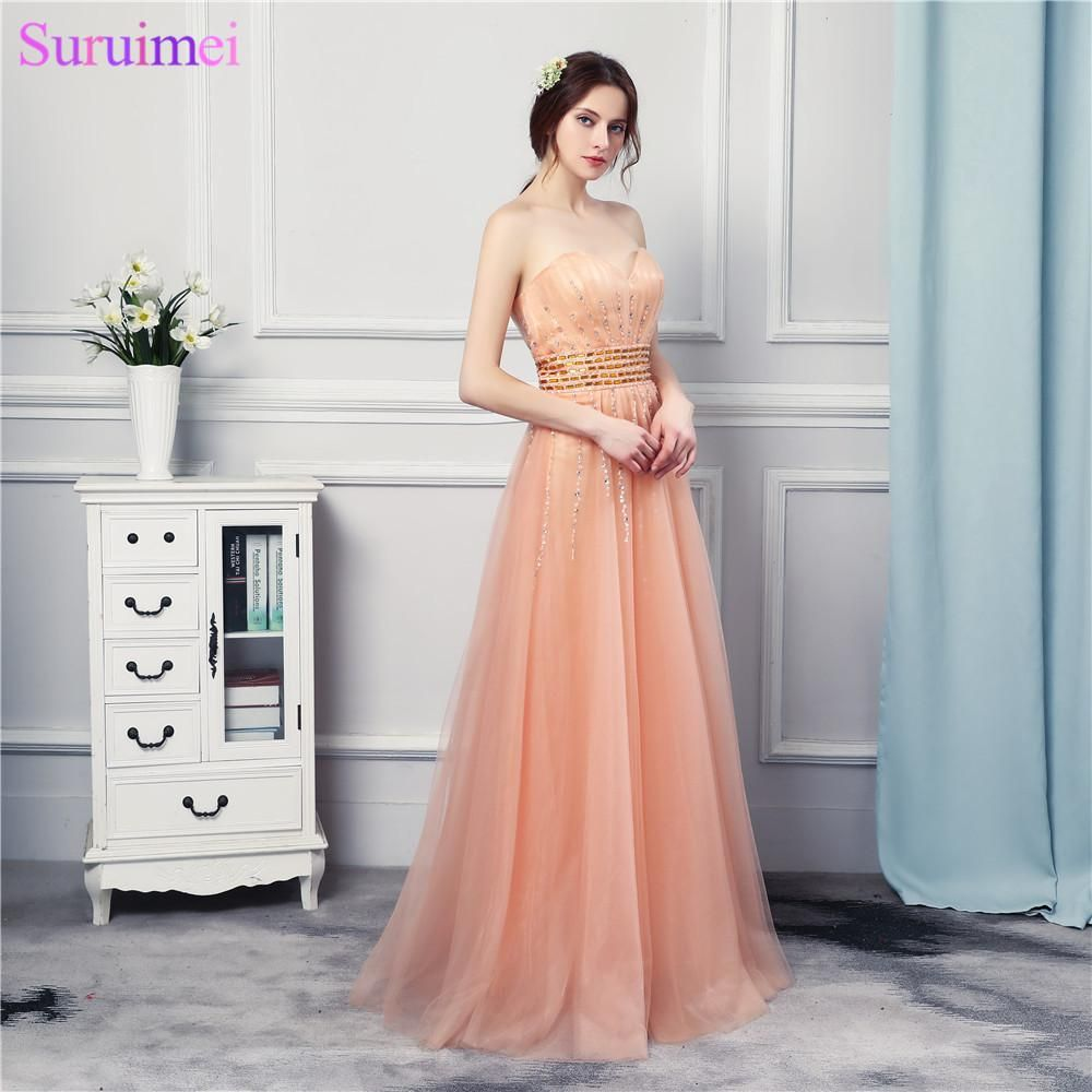 85b370d9b75f High Quality Soft Tulle Orange Long Prom Dresses Beaded Off The Shoulder  Girls Prom Party Gown
