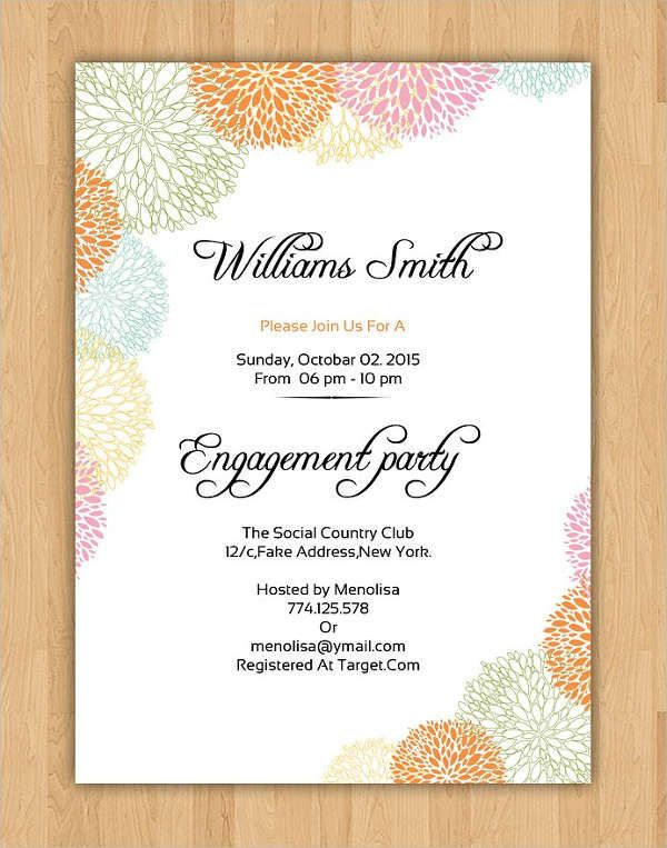 10 Engagement Invitation Templates Free Printable Pdf Formats Engagement Invitations Wedding Invitation Kits Invitation Card Format