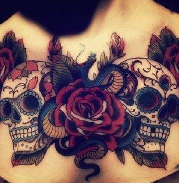 Tradicionales Y Unicos Tatuajes De Craneos Con Rosas Tatuajes Para