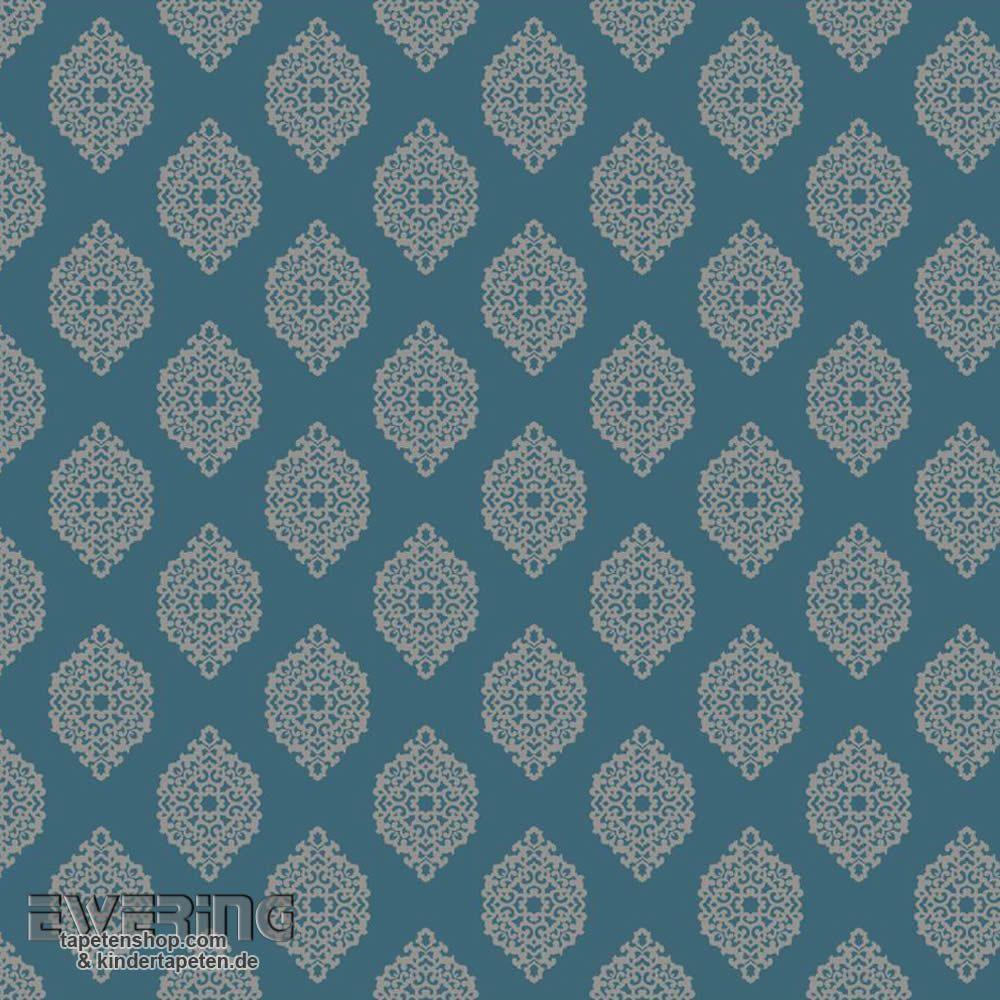 23-327358 Waverly Small Prints Rasch Textil Ornament Petrol ...