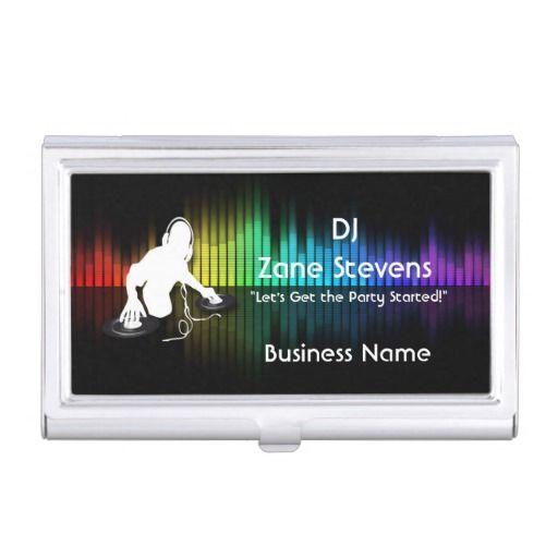 Dj spinning vinyl business card holder vinyls tags and card holders dj spinning vinyl business card holder colourmoves Image collections