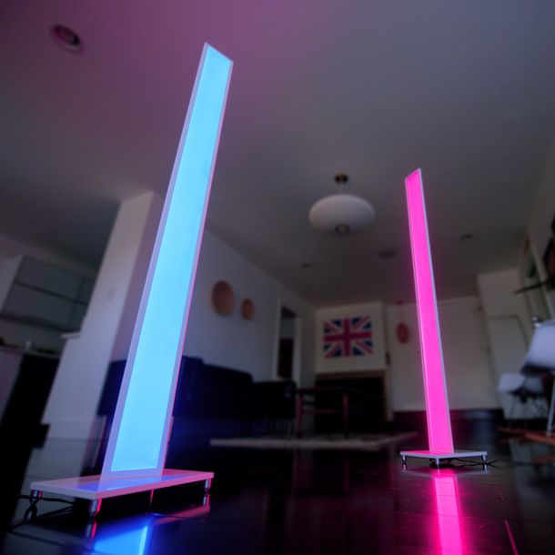 Mood Lighting Ideas From Visualchillout: Color-changing LED Floor Lamps That Help Set The Mood In