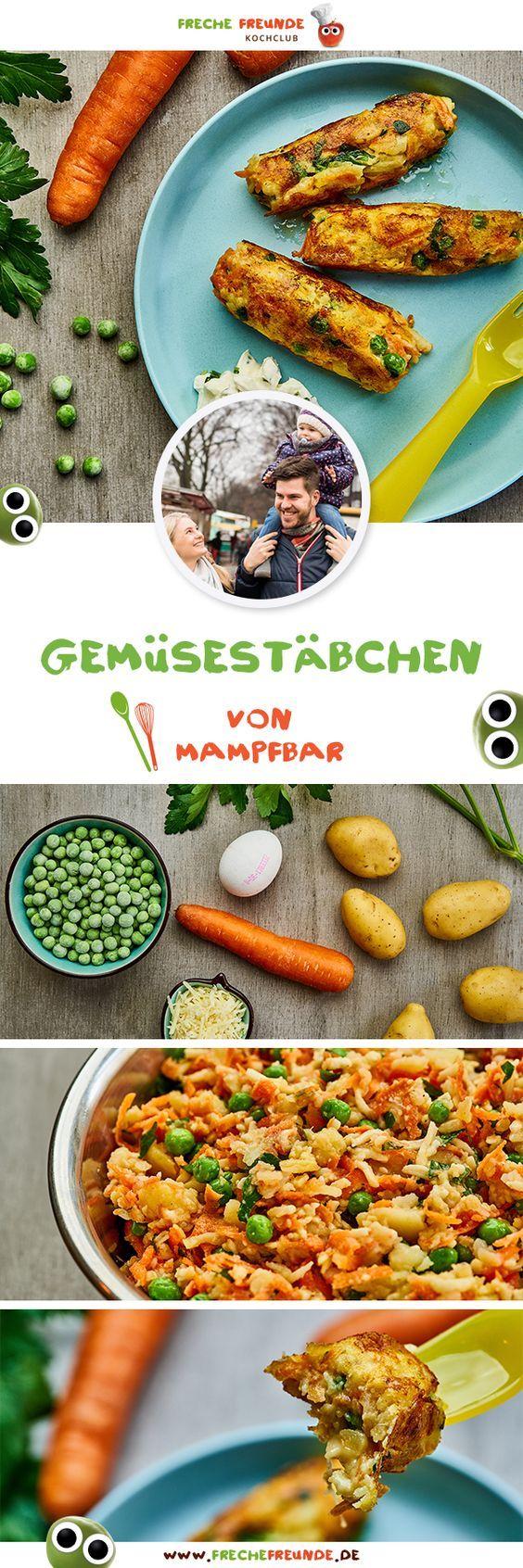 Einfache Gemüsestäbchen für Kinder - Freche Freunde Kochclub