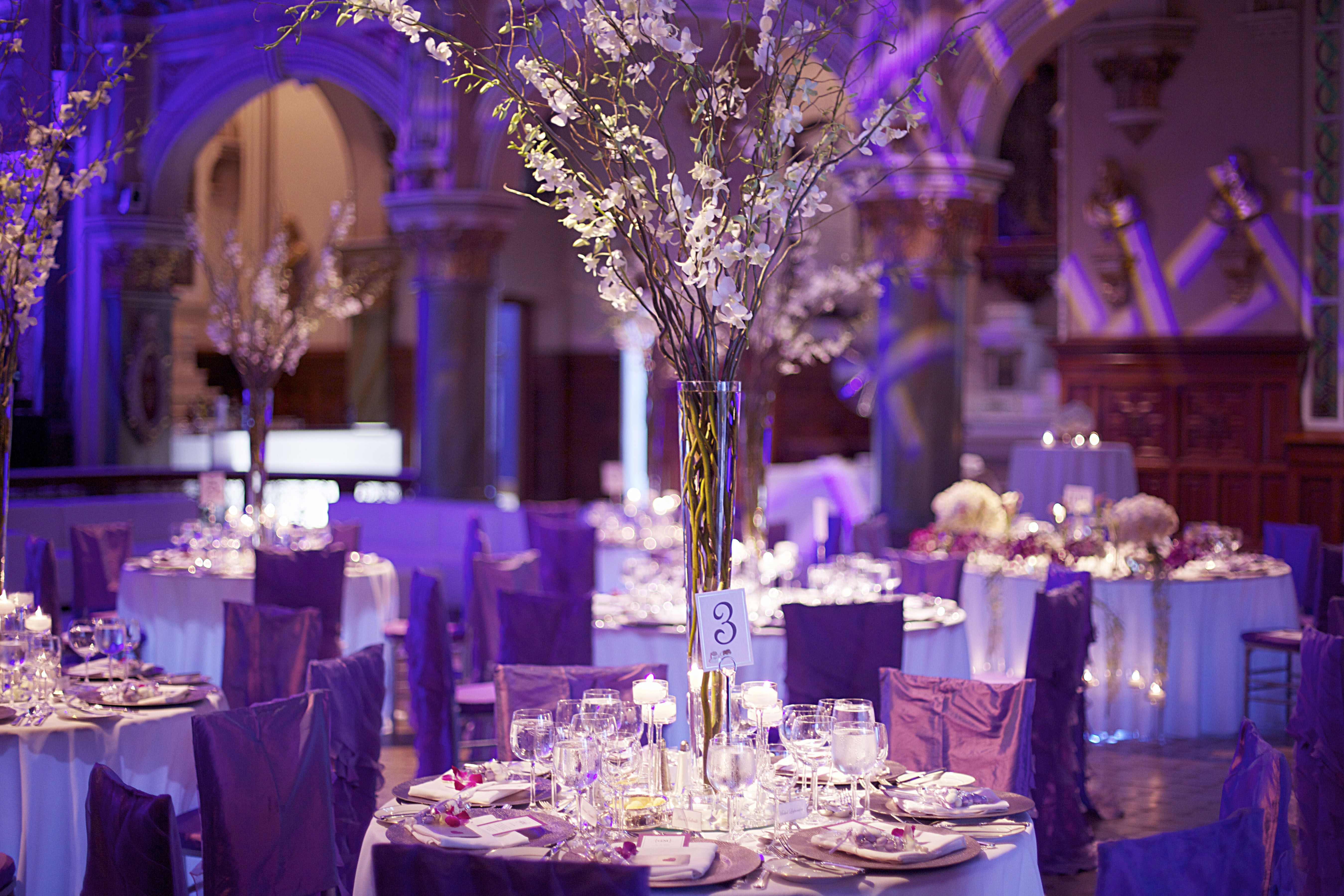 White Purple Decor Centerpiece Pinterest Wedding Weddings