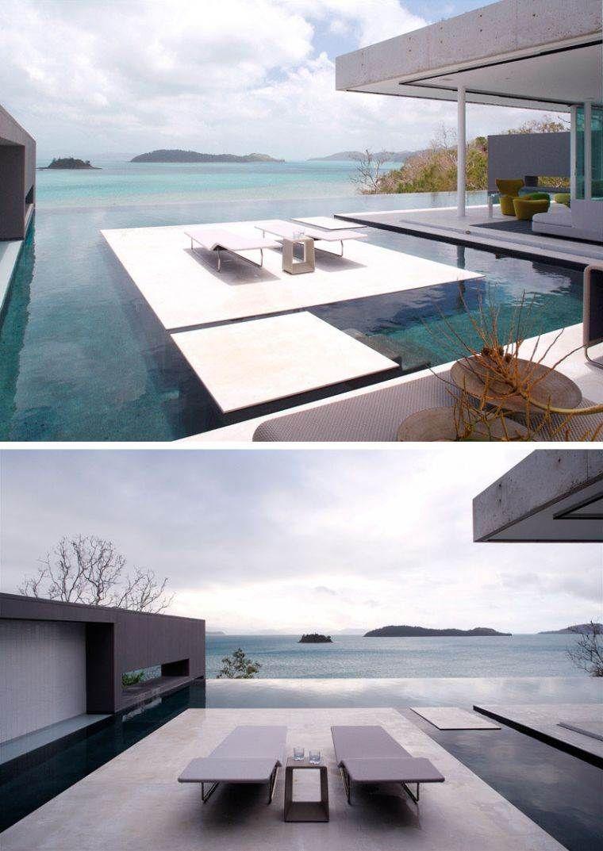 Pool - einige Ideen mit Inseln in außergewöhnlichem Design #design ...