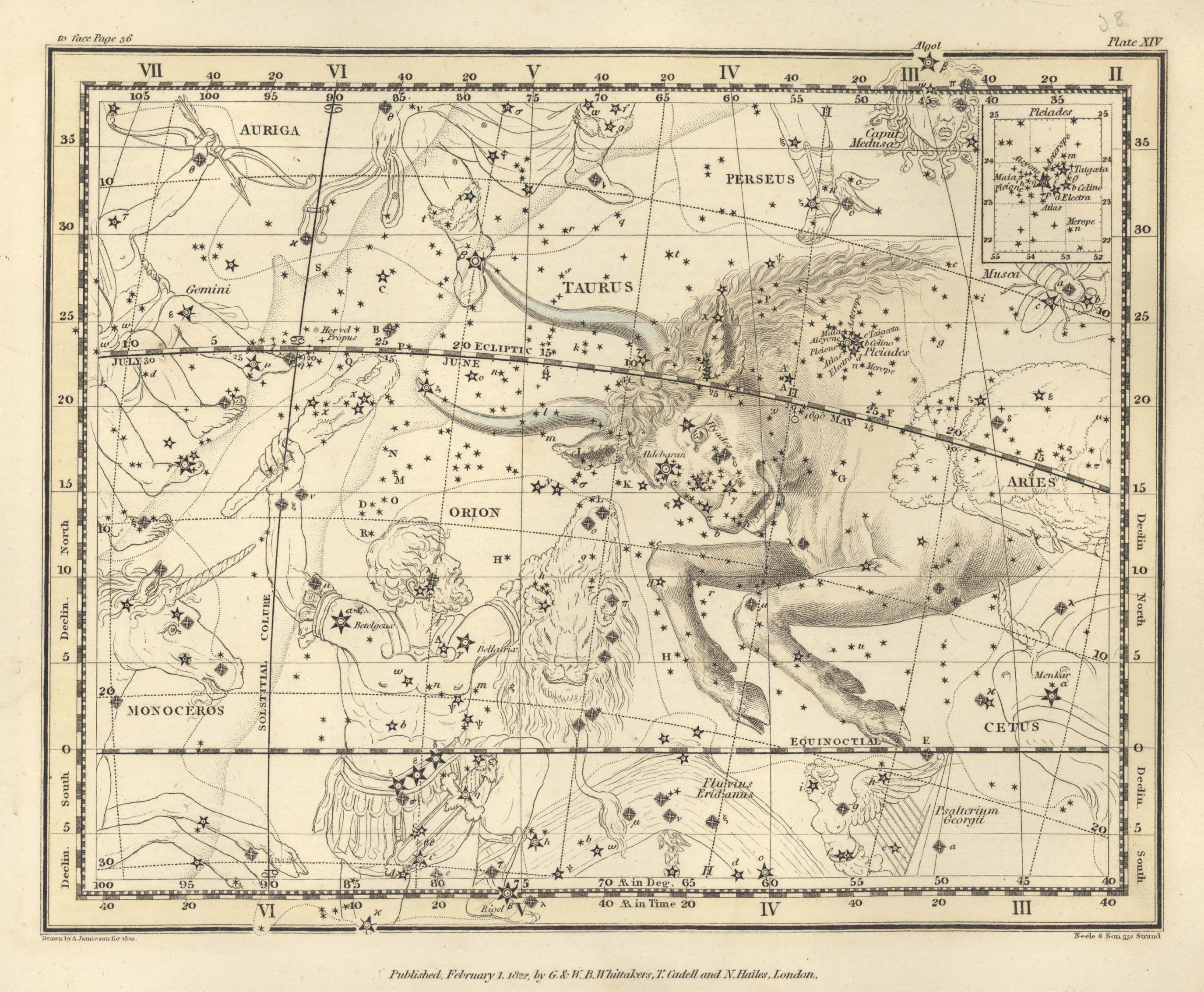 Taurus Celestial Atlas By Jaimeson Antique World Map Ancient Maps Celestial Map
