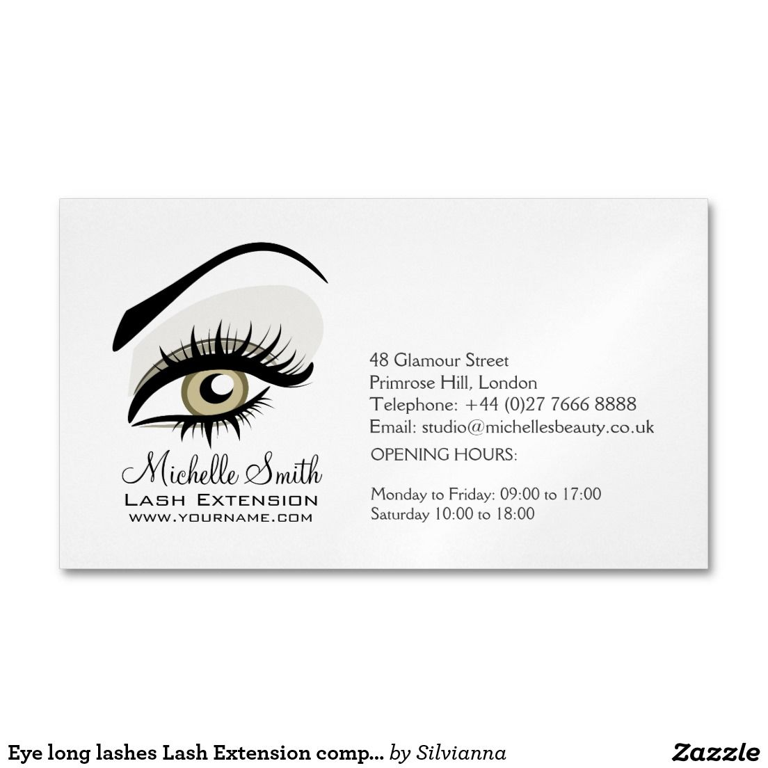 Eyelash extension business cards business card design inspiration for Eyelash extension business cards
