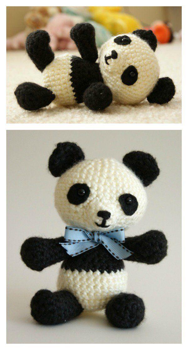 Cute Crochet Panda Free Patterns | Tutoriales
