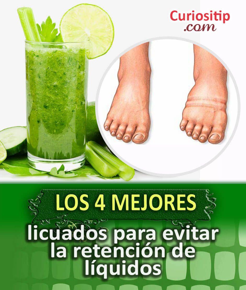 4 Licuados para evitar la retencion de liquidos