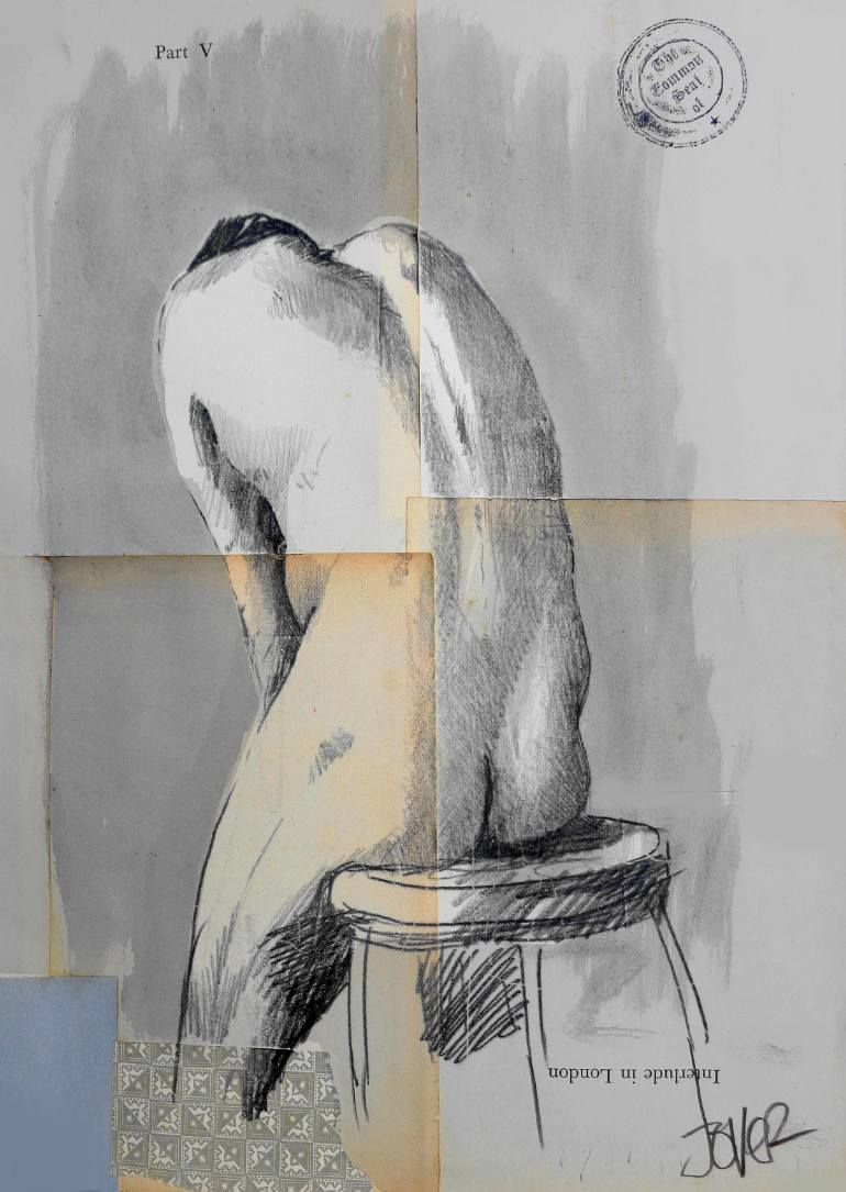 """Saatchi Art Artist: Loui Jover; Ink 2014 Drawing """"for the term of his natural life"""""""