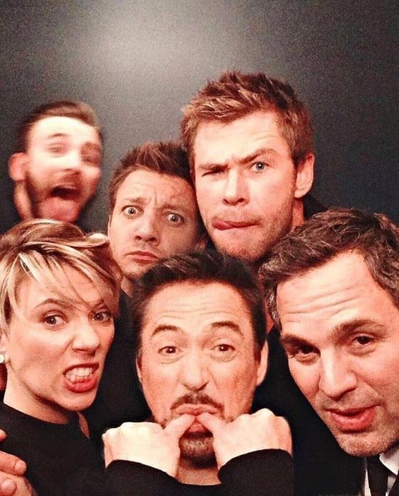 The funny group photo of the avengers #avengers #marvel #cosplayclass #marveluniverse