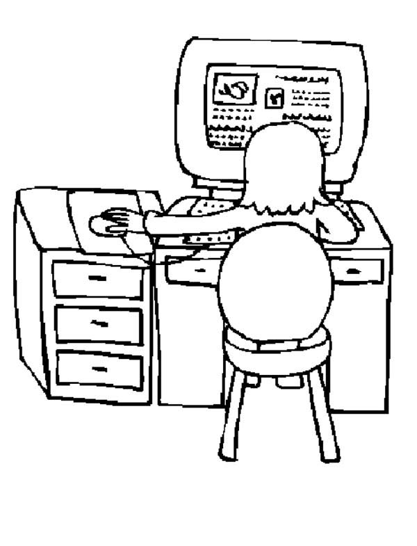 Interner Surfing With Computer Coloring Page Coloring Sun Coloring Pages Online Coloring Surfing