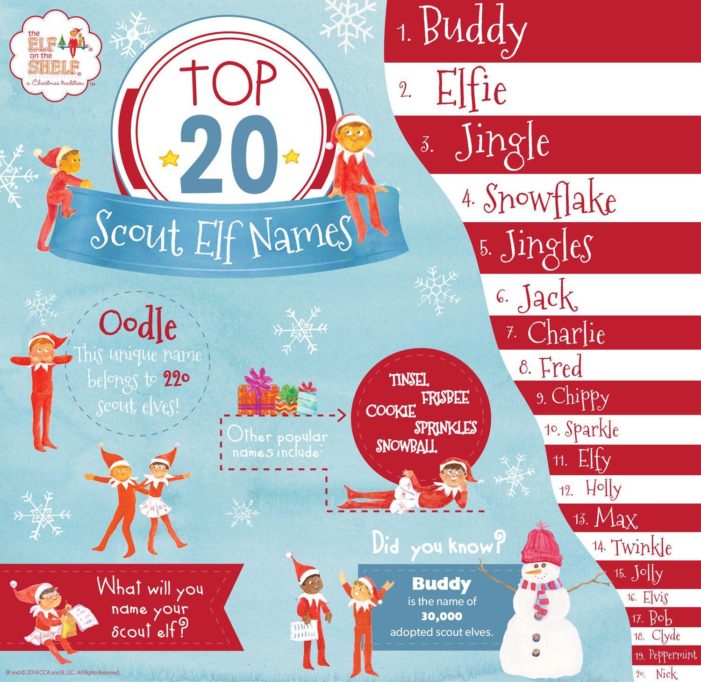 Top 20 Scout Elf Names Xmas Elf On The Shelf Elf