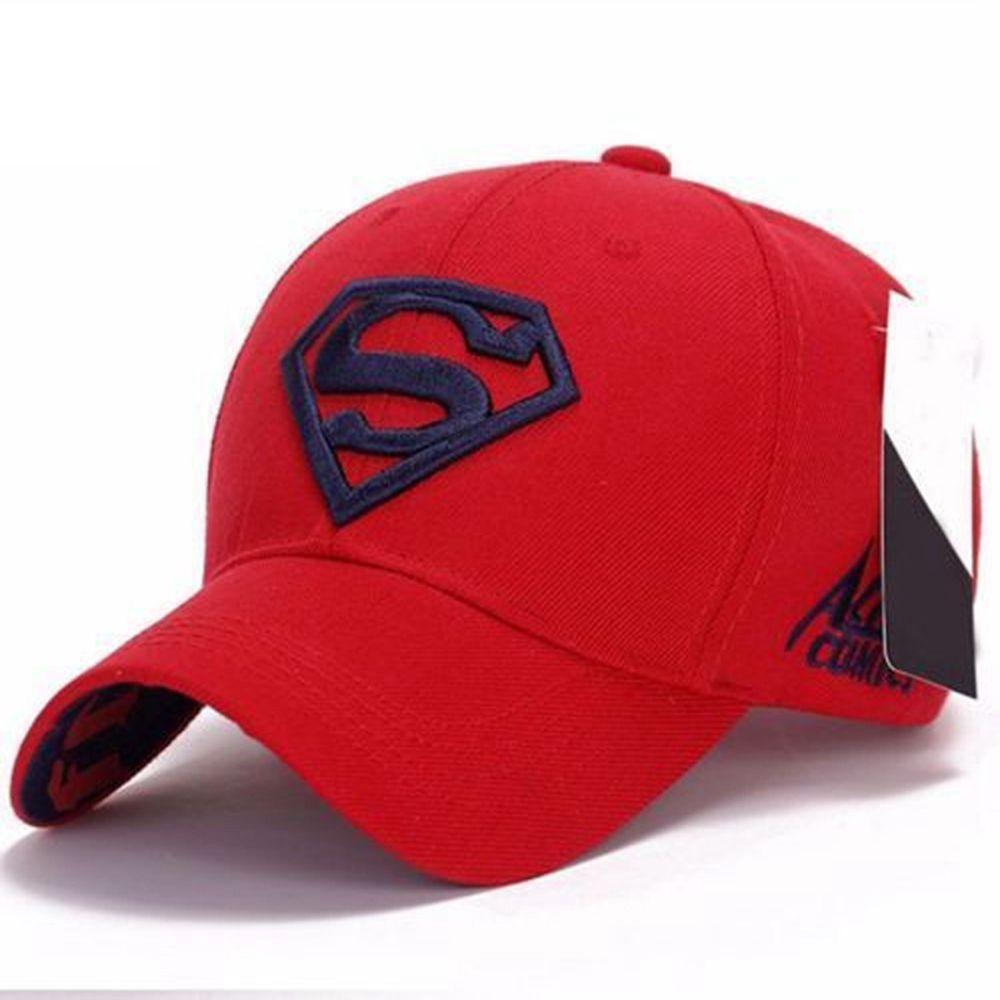 Men Women Unisex Outdoor Snapback Running Cap Adjustable Fit Cap Superman  Hip-hop Stretch Hat a3e4ba41d518