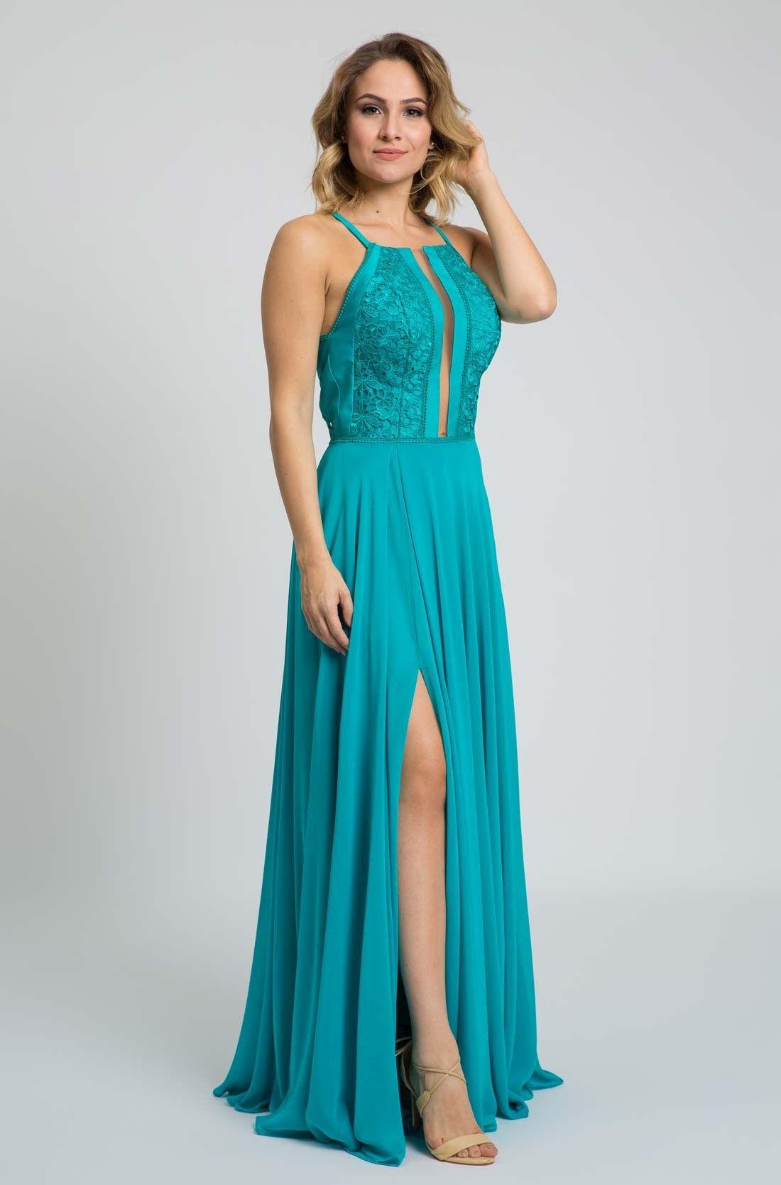 Vestido fenda cassiopéia dress designs glamour and teal