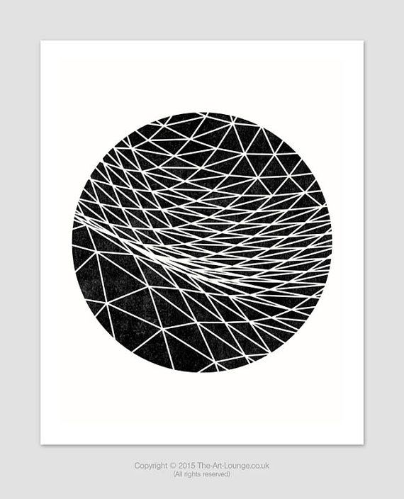 650e0856a82 Complex Geometric Print – A contemporary geometric design for your home  interior. The circular cropped mesh of connected lines almost describe the