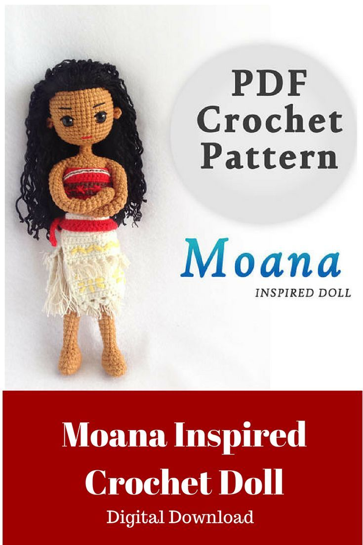 I know a little girl who would love this Moana Crochet Doll ...