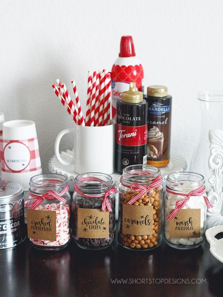 Hot Chocolate Bar + Printables #hotchocolatebar