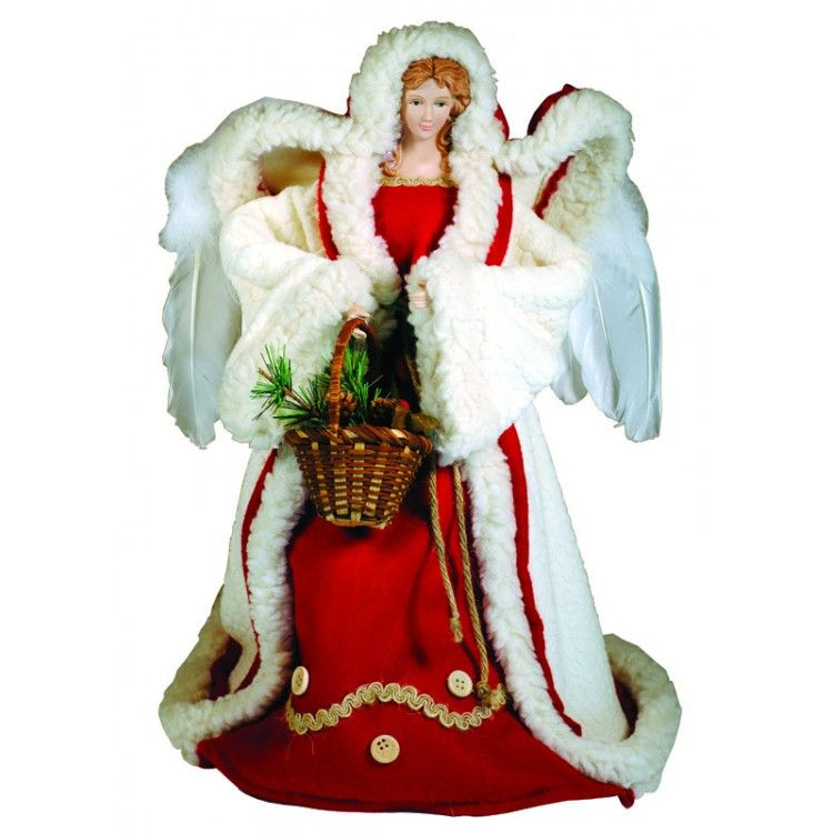 I love the way that the coat of this angel tree topper is shaped by her wings!