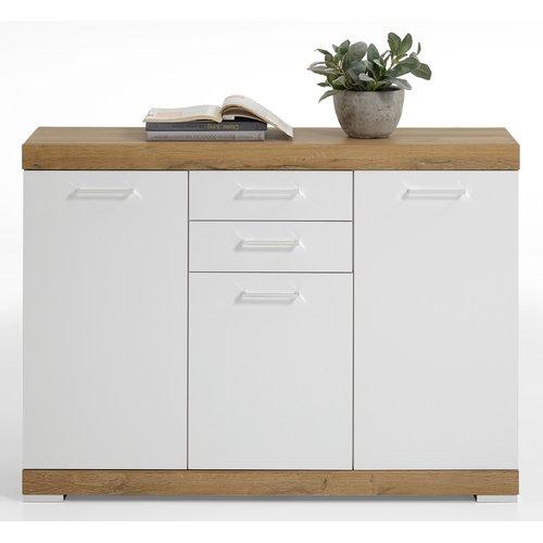 17 Stories Haygashen Sideboard Cupboard Storage Beige Drawers Brown Drawers