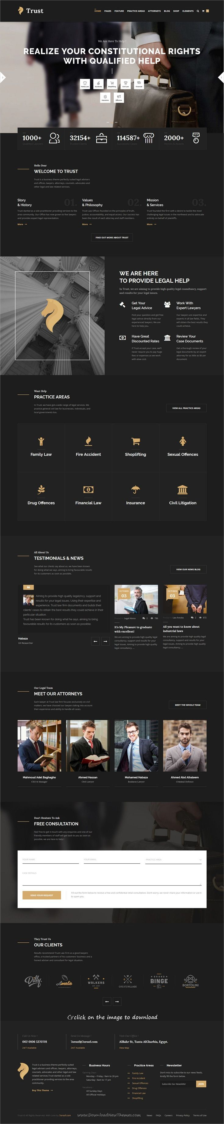 Trust Business - Lawyer and Attorney WordPress Theme   Professional ...