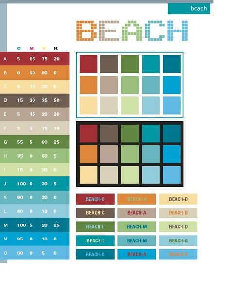 more colors i like Color Pinterest Beach color schemes - ral color chart