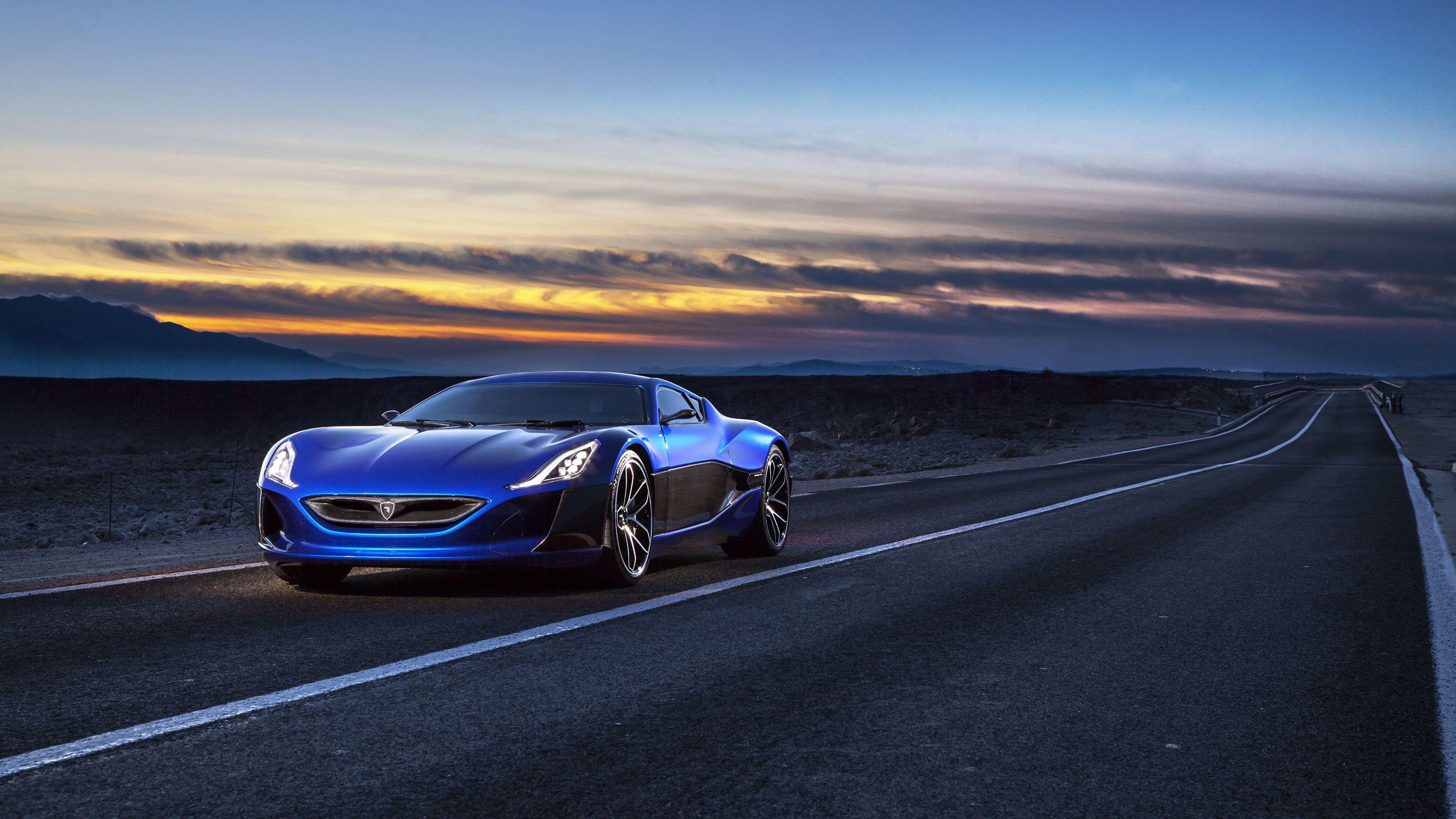 Rimac Electric Car Concept 4k Rimac Electric Car Concept Electric Car Concept Super Cars Car Wallpapers