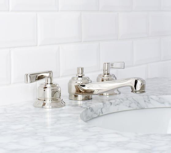 Covington Lever Handle Widespread Bathroom Faucet Pottery Barn