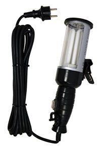Tibelec 964910 Baladeuse avec Ampoule Fluo à Economie d'Energie Verre/Caoutchouc 20 W