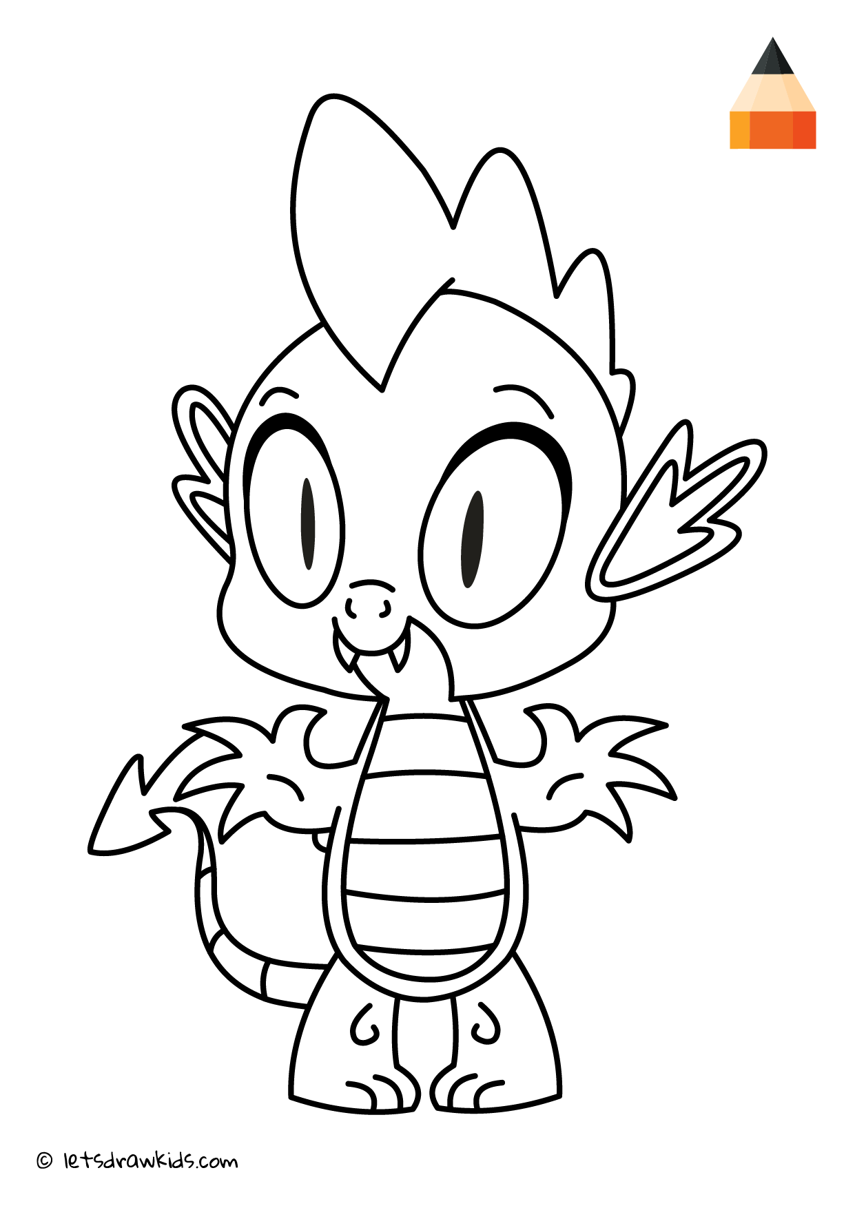Coloring Page - My Little Pony - Spike