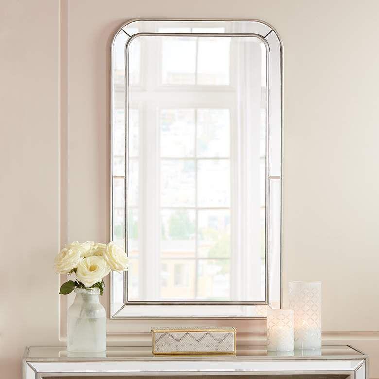 Possini Finnley Champagne 26 X 45 Frameless Wall Mirror 11t09
