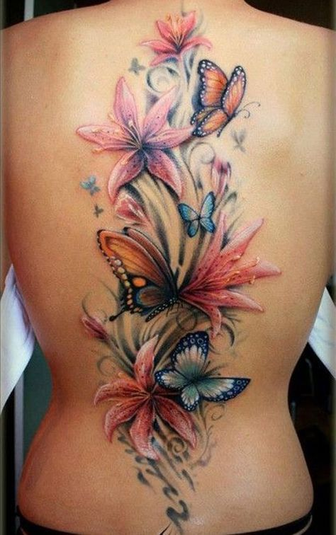 17 Prachtige Grote Rug Tattoos Voor Onze Dames Tatoeages