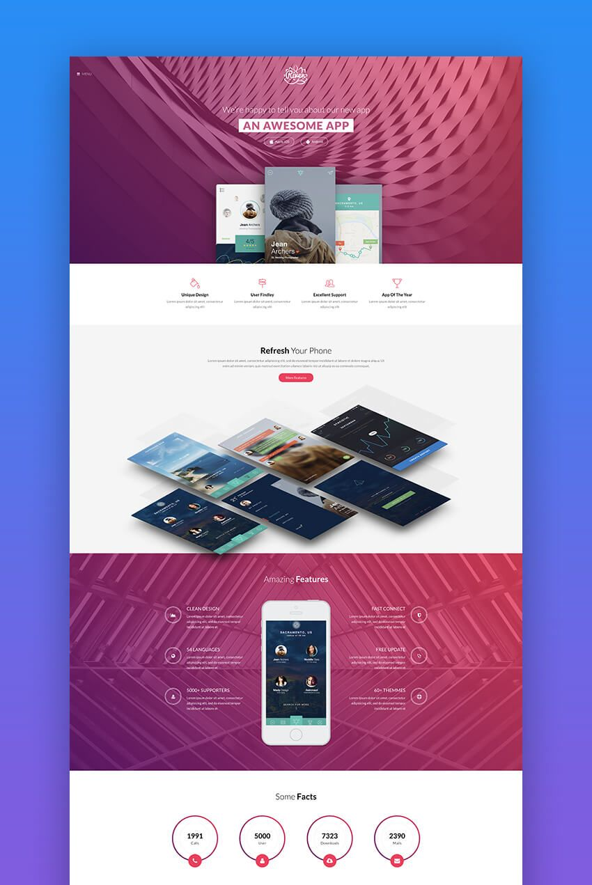 Riven Product Landing Page Template Mobile Landing Page