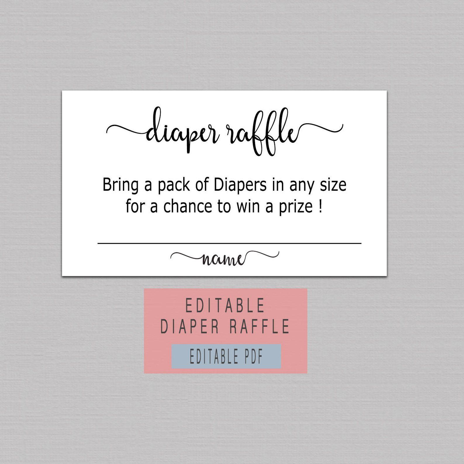 Diaper Raffle Ticket Printable Diaper Raffle Cards Instant Etsy In 2021 Raffle Tickets Printable Diaper Raffle Diaper Raffle Ticket Printable Free diaper raffle ticket template