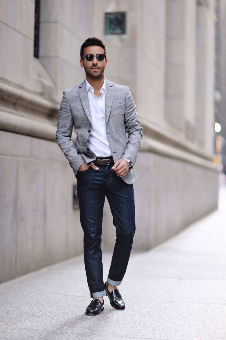 City Vibes Loafers Men Outfit Mens Outfits Blazer Outfits Men [ 1125 x 750 Pixel ]