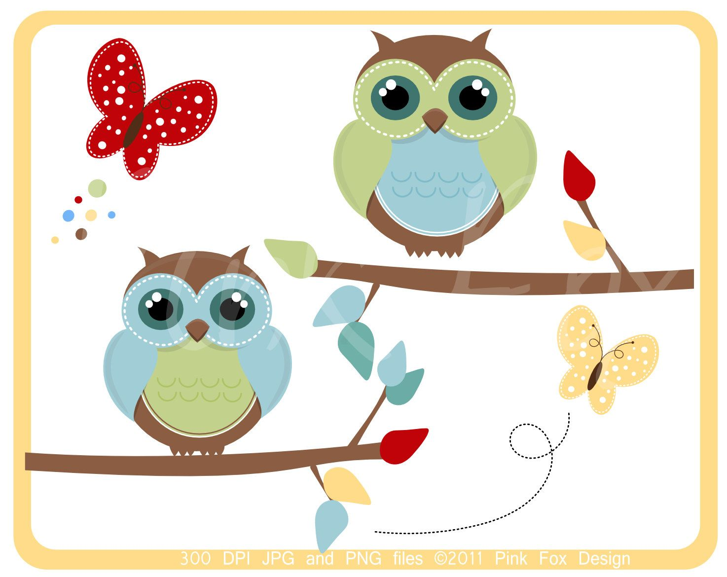 instant download owl clipart and digital paper pack spring clip rh pinterest com clipart of spring flowers clip art of spring birds