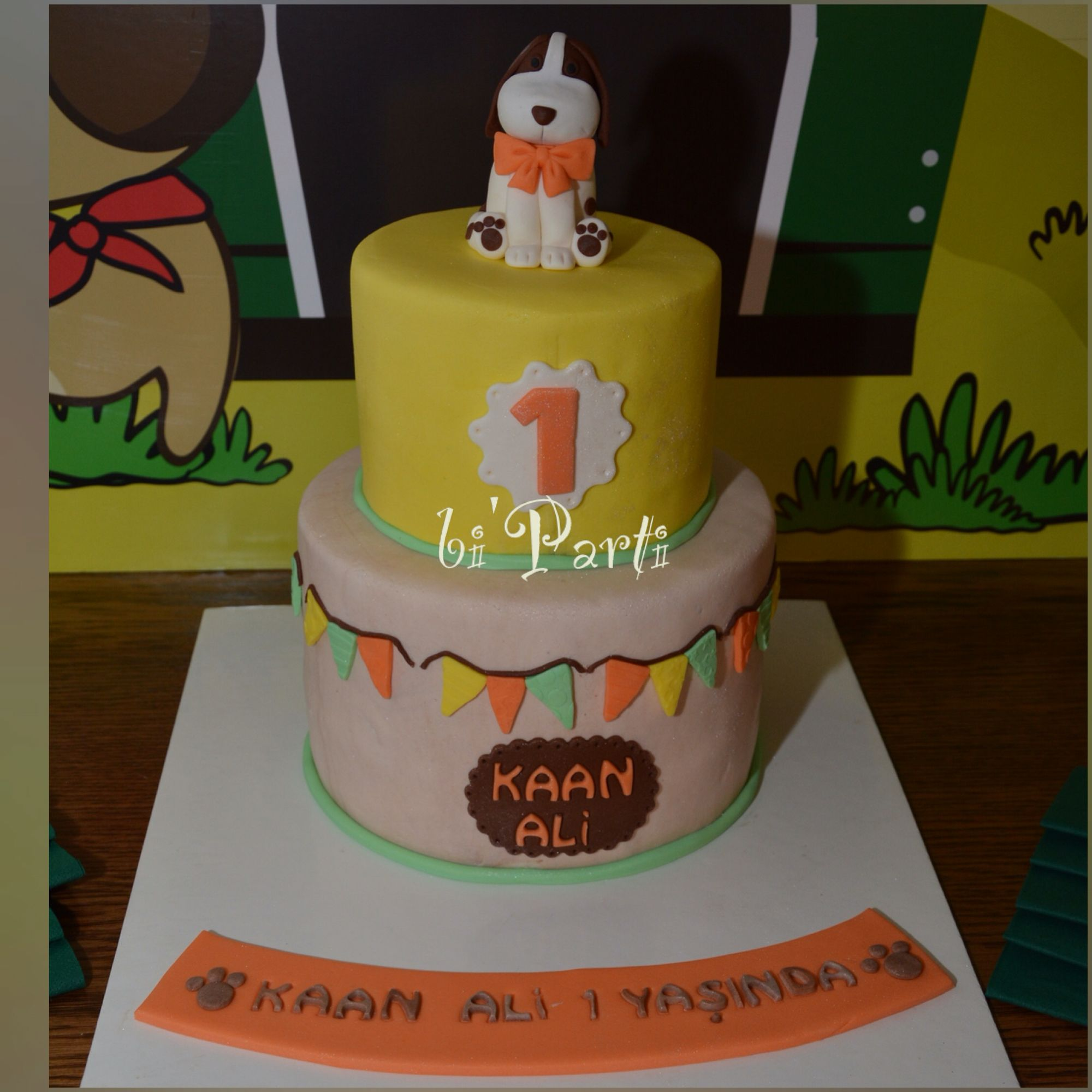 Dog Cake Puppy Cake First Birthday Cake Cakes Cake Decorating