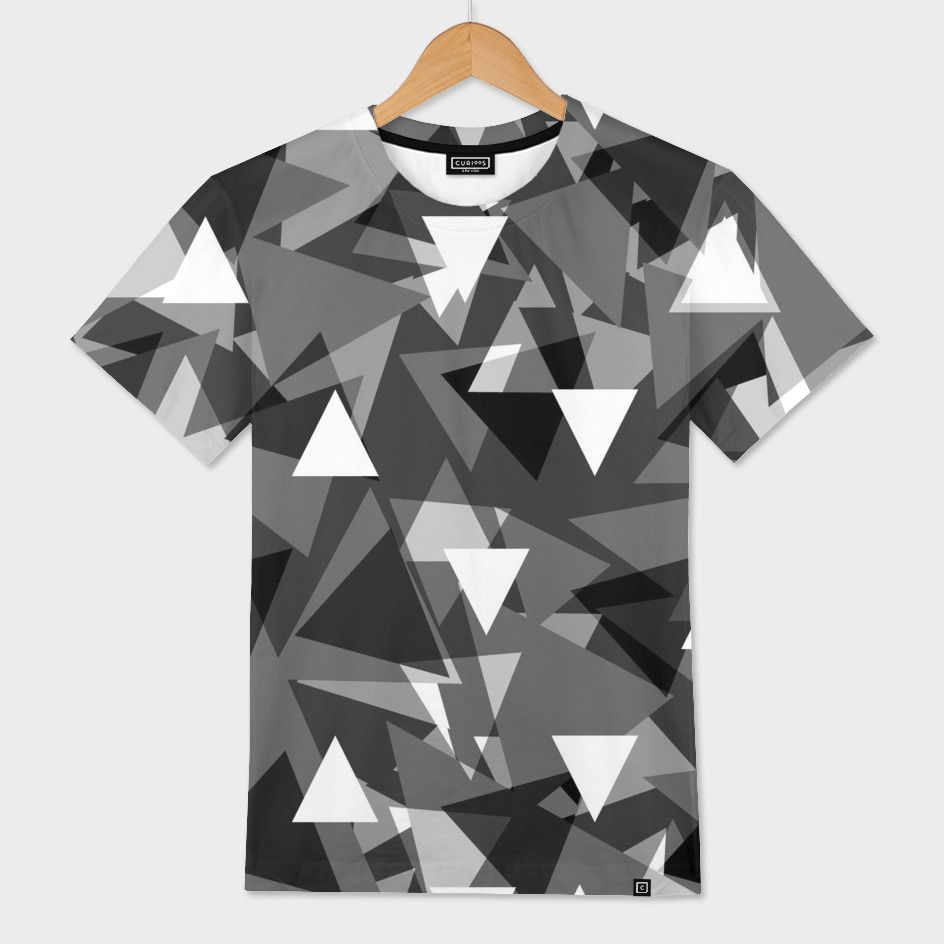 Triangle Background Gray Men S All Over T Shirt By Danler Numbered Edition From 39 Curioos Shirt Print Design T Shirt Painting T Shirt