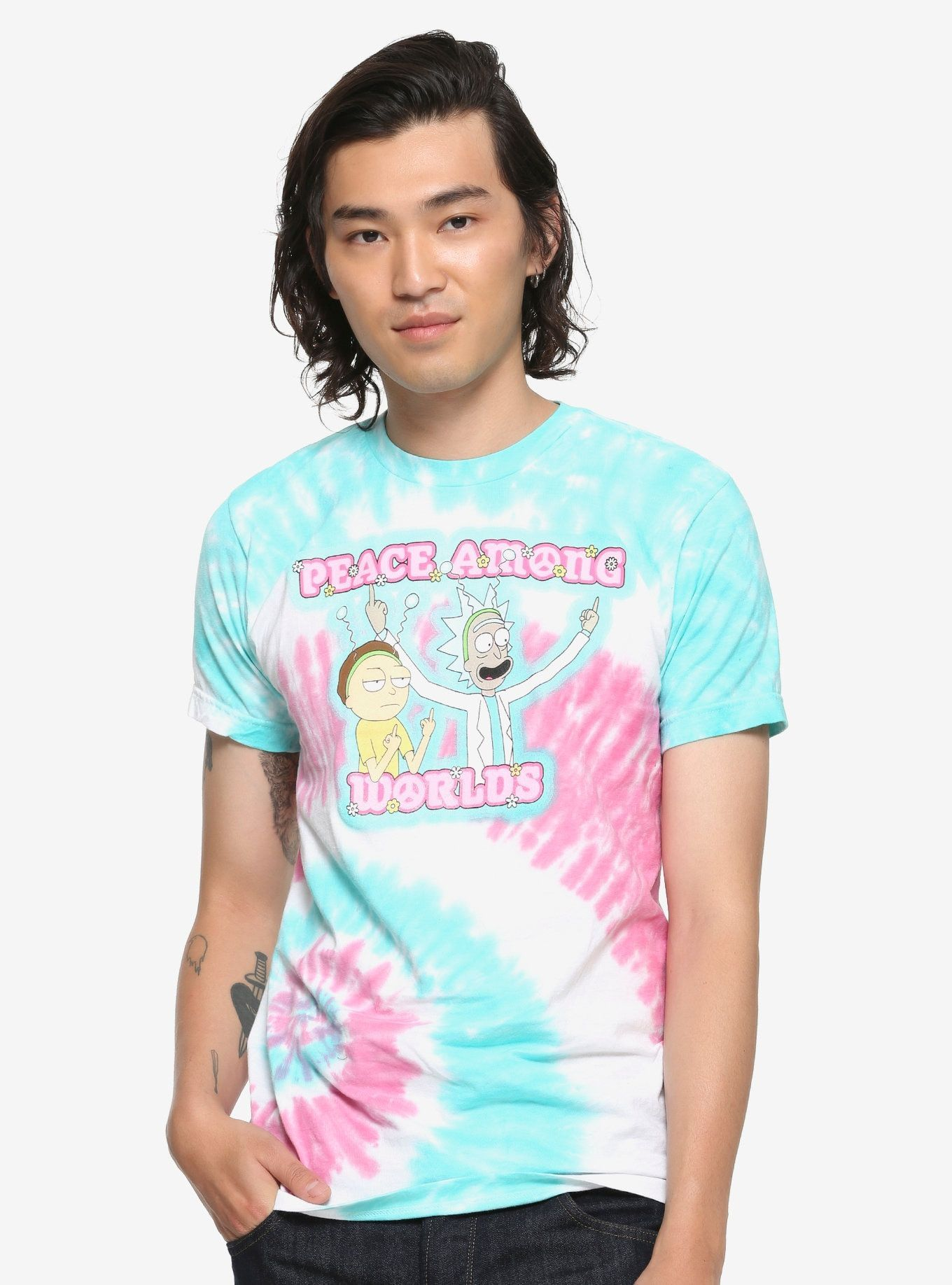 Coolteess Com Rick And Morty Peace Among Worlds Tie Dye T Shirt Exclusive Multi Long Sleeve Sweatshirt Dye T Shirt Tie Dye T Shirts T Shirts For Women [ 1836 x 1360 Pixel ]