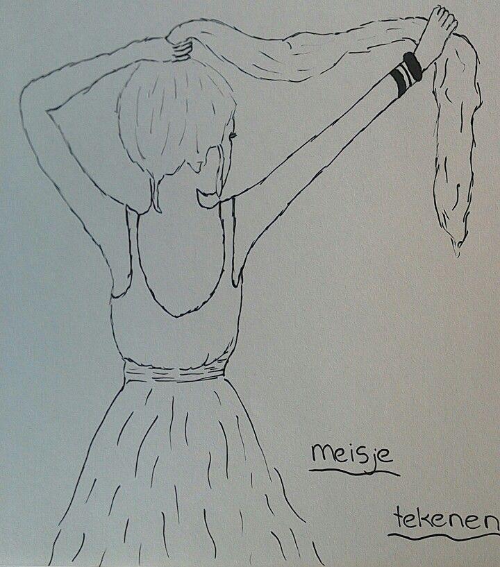 Tekenen een meisje met lang haar tekenen drawing pinterest drawings - Hoe om kleuren te maken ...