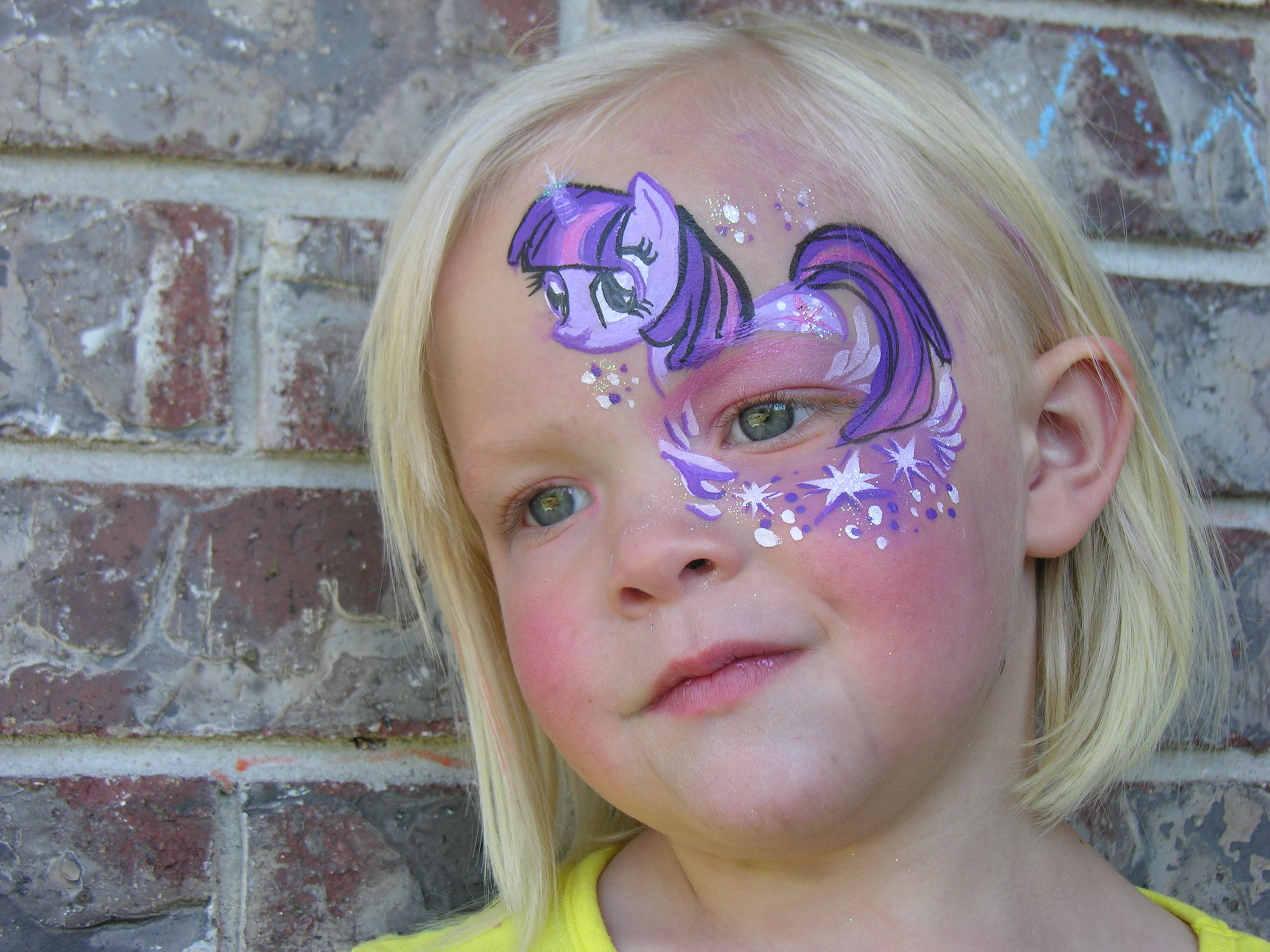 my little pony face paint | The Painted Otter