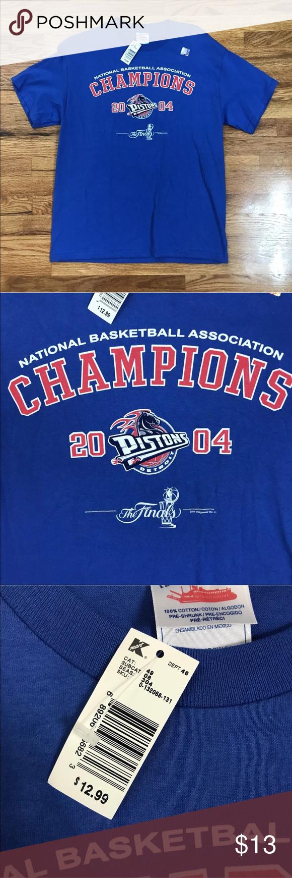 Detroit Pistons Nba 2004 Finals Deadstock T Shirt River Shirts Shirts T Shirt
